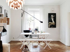 100平米北欧风格淡雅温馨创意公寓装修效果图