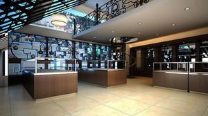 生意兴隆的城市大户型烟酒店装修效果图展示