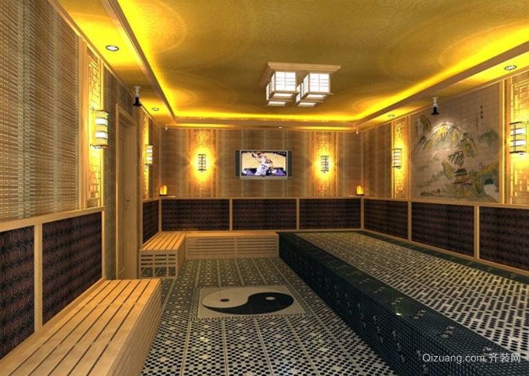 180平米 大众浴池 韩式风格 汗蒸房 装修 效果图 齐高清图片