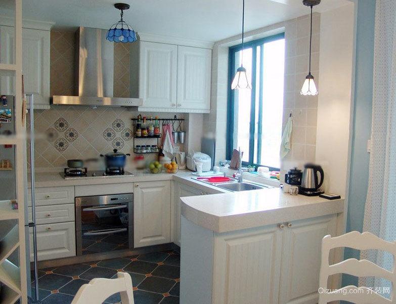 别墅型豪华开放式厨房装修效果图素材大全