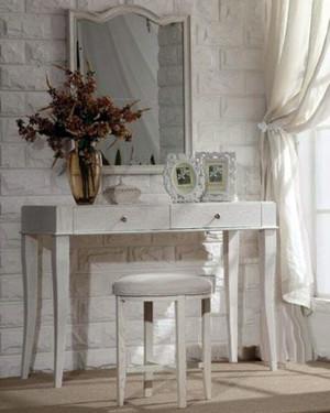 地中海唯美清新卧室梳妆台设计效果图