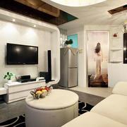 公寓客厅电视背景墙设计