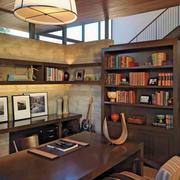 书房原木桌椅