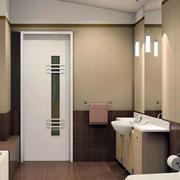 小型窄窄的卫生间门设计