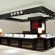 大型超市珠宝展览柜台设计