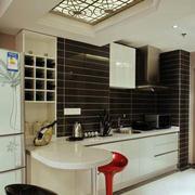 后现代风格开放式厨房效果图