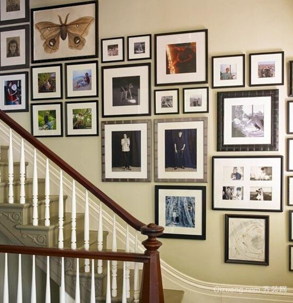 精致独特的楼梯照片墙设计装修效果图