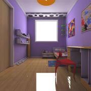 紫色儿童房设计