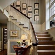 楼梯转角照片墙设计