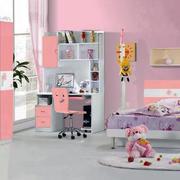 甜美粉色儿童房设计