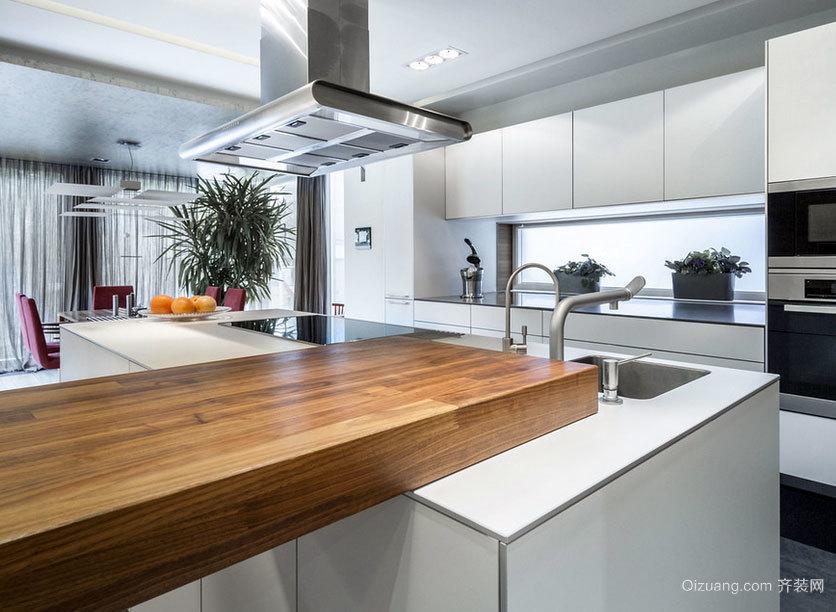 经典设计大户型开放式厨房装修效果图素材大全