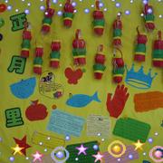 清爽大方幼儿园墙饰装修