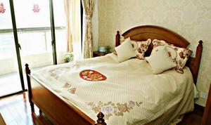 中式复古之大户型婚房卧室装修效果图