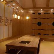 韩式木制餐桌效果图