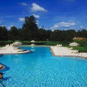 游泳池周围绿化设计
