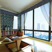 阳台榻榻米书柜设计