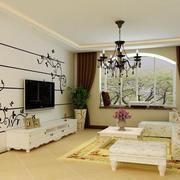 欧式石膏板背景墙效果图