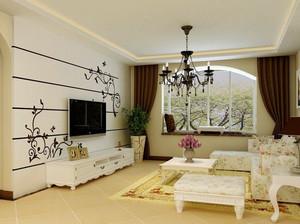 华美欧式别墅电视墙装修效果图大全