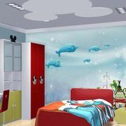 卡通儿童房背景墙设计