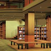 两层复式书店效果图