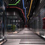 服装店创意过道吊顶设计