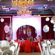 婚礼现场吊顶灯饰效果图