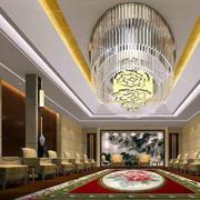 酒店大堂吊顶灯饰效果图