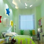 几何图形拼凑的儿童房设计