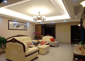 单身公寓欧式精致客厅吊顶装修效果图素材大全