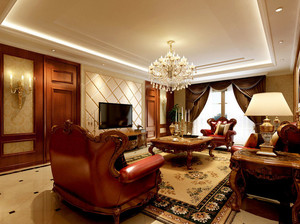 具有品位的欧式客厅石膏线装修效果图欣赏素材
