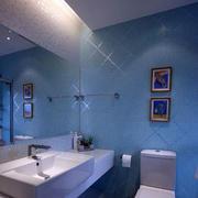 蔚蓝色瓷砖设计