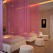 浅色粉嫩系列美容院spa床设计
