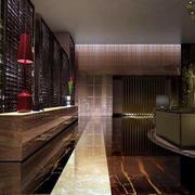 深色酒店大堂柜台设计