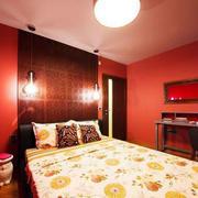红色卧室背景墙