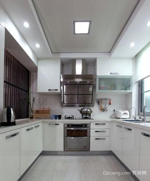 30平米混搭风格开放式小厨房装修效果图