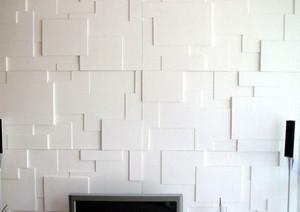 刚流行的新式魔块背景墙图片