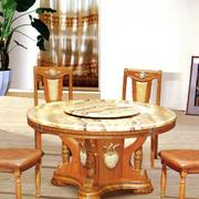 原木圆形餐桌设计