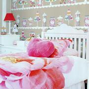 粉嫩儿童房壁纸设计