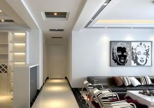 家庭精致美观的走廊吊顶装修效果图素材欣赏