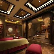 暖色搭配的spa美容院设计