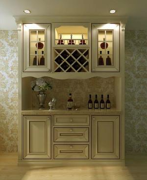 带有欧式田园风格的酒柜效果图设计