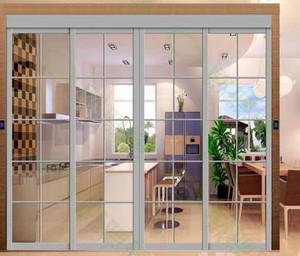 两室一厅专用厨房推拉门设计装修效果图