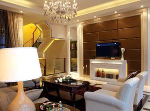 180平米日式经典简约别墅客厅装修效果图