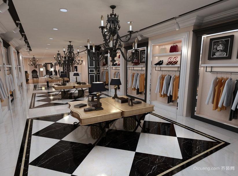 流行前线都市服装店装修效果图素材大全