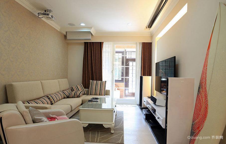 每日好心情 淡雅两室一厅室内装修设计效果图