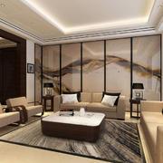 中式客厅屏风效果图