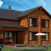 复古色原木别墅设计