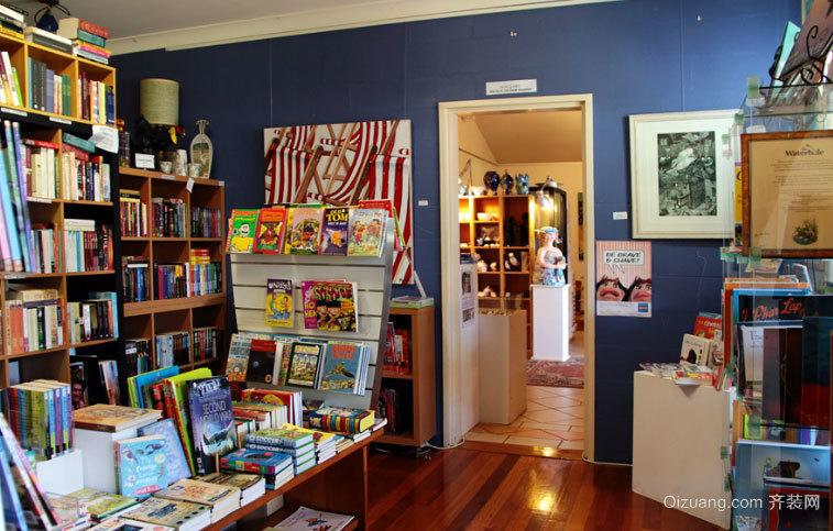 知识的殿堂:大型书店装修效果图设计