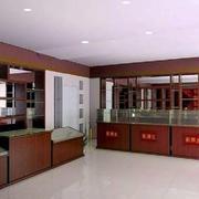 烟酒店原木设计柜台