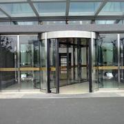 小型商务区旋转门